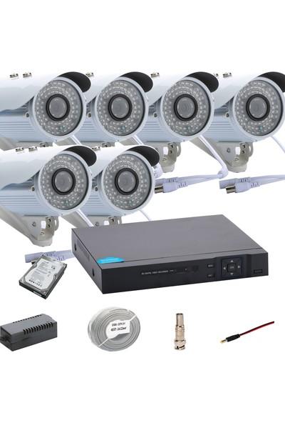 Promise 6 Kameralı Set Ahd 1080P Big Led Harddisk Dahil