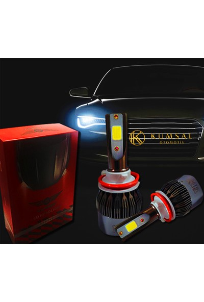 Gold Alfa Romeo 146 (Kısa ve Uzun Uyumlu Far) H1 Led Xenon Far 6000K Beyaz Renk