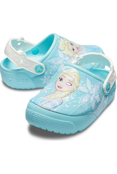 Crocs Fun Lab Frozen Elsa Lights Clog Kız Çocuk Terlik