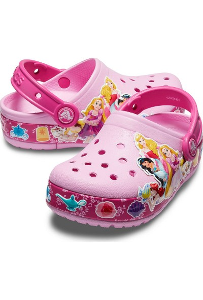 Crocs Fun Lab Multi-Princess Band Lights Clog Kız Çocuk Terlik