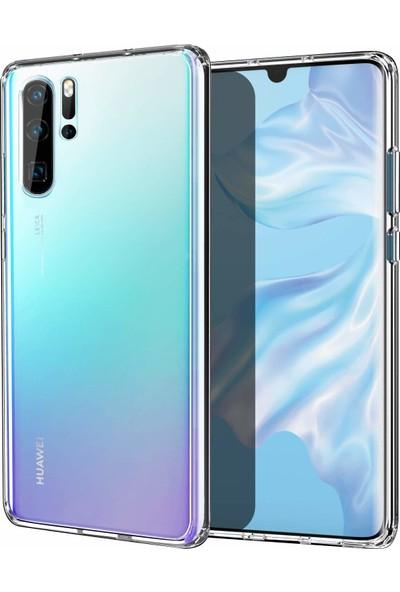 Case 4U Huawei P30 Pro Kılıf Süper Silikon Arka Kapak Şeffaf