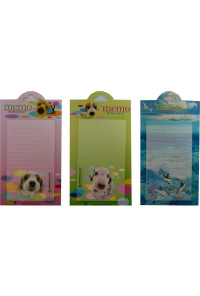 Yeşil Oyuncak Buzdolabı Magneti Alışveriş Listesi Ve Not Defteri 3 Adet Birden