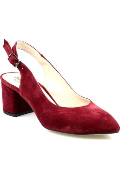 Gizsah Kadın Bordo Topuklu Ayakkabı