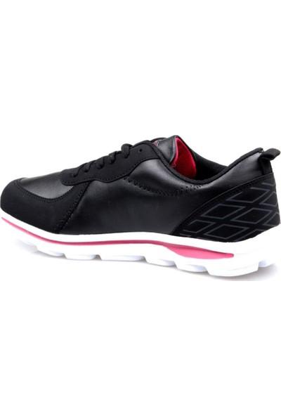 Pro Tracker Fless Siyah-Pembe Kadın Günlük Spor Ayakkabı