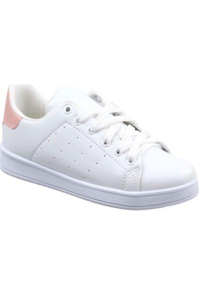 Livens Kadın Beyaz-Pudra Günlük Spor Ayakkabı