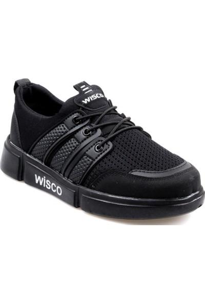 Wisco Erkek Çocuk Bağcıksız Siyah Günlük Spor Ayakkabı