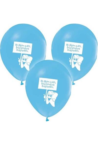 Saray Lazer Balon Baskılı 12 İnc 1+1 Diş Buğdayı Mavi En:25 cm Boy:30 cm 30 Adet