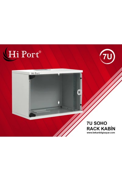Hi Port 7U W=530 mm D=400 mm Duvar Tipi Soho Rack Kabinet
