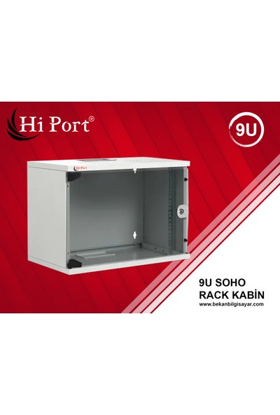 Hi Port 9U W=530 mm D=400 mm Duvar Tipi Soho Rack Kabinet