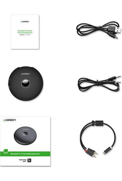 Ugreen Bluetooth Ses Adaptörü 4.2ver.3.5mm Au Alıcı (RX) Verici (TX)