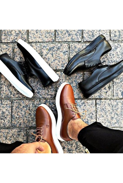 Erbilden Erb Ch003 Fantasya Beyaz Taban Erkek Ayakkabı Taba