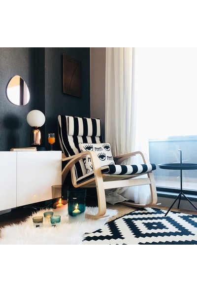 Alesta Home Mavi ve Kahverengi Cam Tealight Mumluk 7x8cm