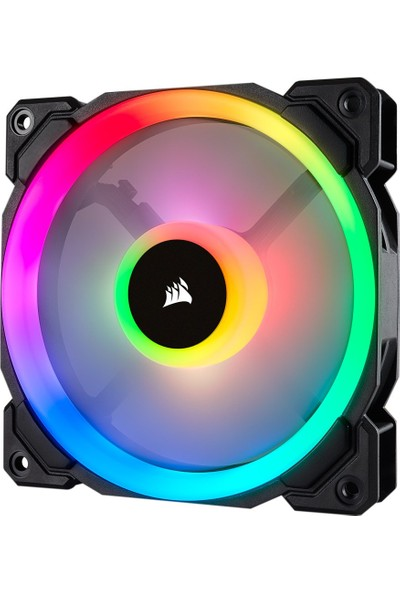 Corsair CO-9050071-WW LL120 RGB 120mm Dual Light Loop RGB LED PWM Single Kasa Fanı