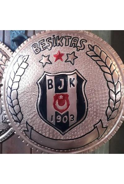 Gaziantep Bakır Beşiktaş Logolu Kabartma Duvar Tabakları