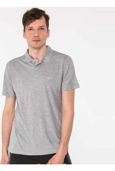 Slazenger Salvator Erkek T-Shirt Gri