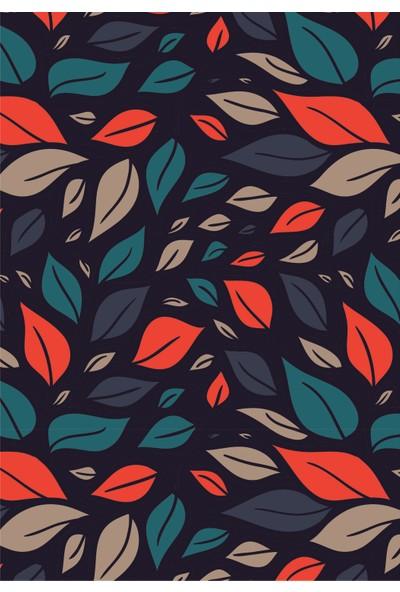 Fly Color Flowers 80 Yaprak Kareli Plastik Kapaklı Spiralli Defter