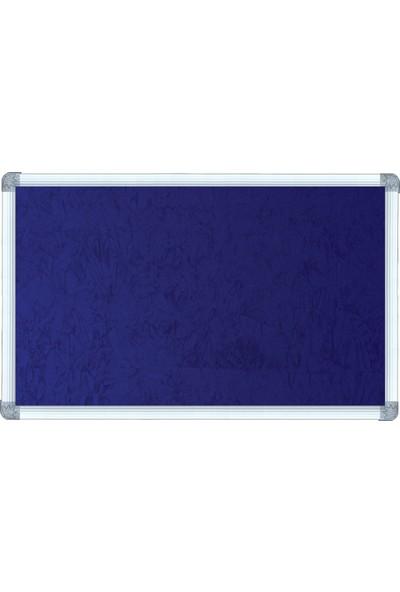 Abc 90X240 Alüminyum Çerçeve Kumaş Kaplı Pano - Kumaşlı Mavi