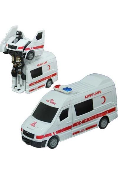 Can Robota Dönüşen Işıklı Sesli Ambulans İlk Yardım Arabası