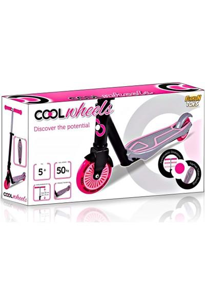 Furkan Cool Wheels 2 Tekerlekli Scooter Kask set Pembe