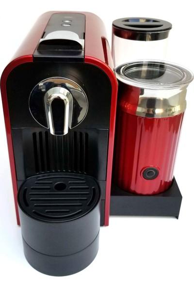 ESPRESSOMM Latte Kapsül Kahve Makinesi Kırmızı - Nespresso Uyumlu