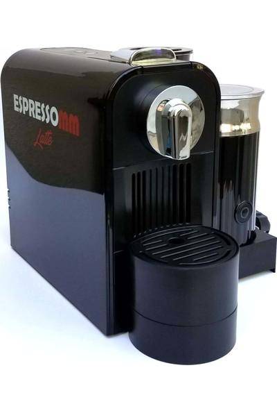 ESPRESSOMM Latte Kapsül Kahve Makinesi Siyah - Nespresso Uyumlu