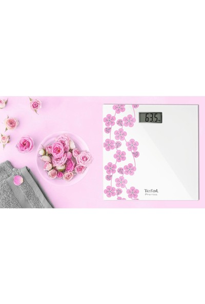 Tefal Pp1078 Premiss Tartı Japon Çiçeği Baskül [ Beyaz - Pembe ] - 2100105545