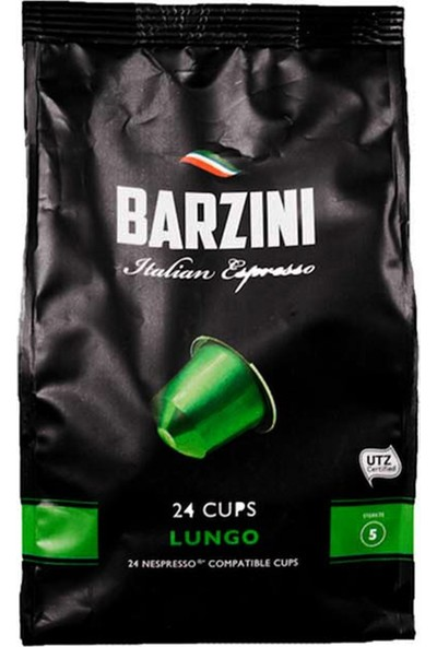 Barzini Lungo Nespresso Uyumlu Kapsül Kahve 24 lü