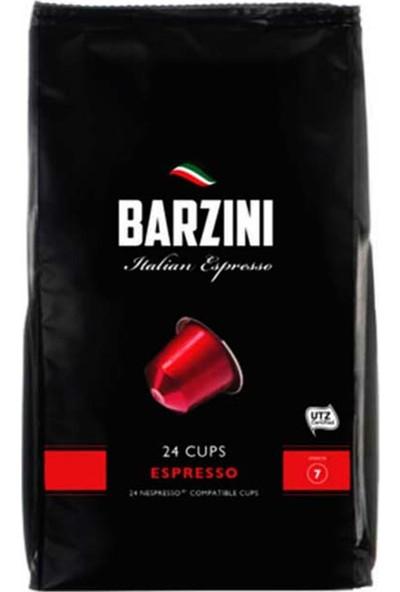 Barzini Espresso Nespresso Uyumlu Kapsül Kahve 24 lü