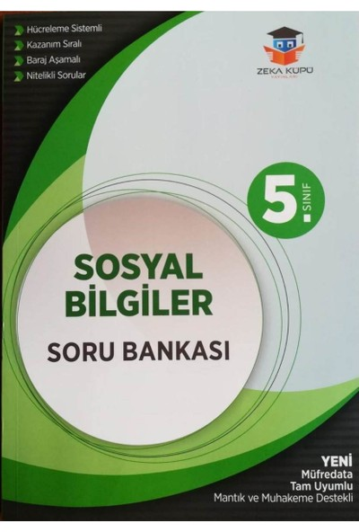 Zeka Küpü Yayınları 5. Sınıf Sosyal Bilgiler Soru Bankası - Yeni Müfredata Uygun