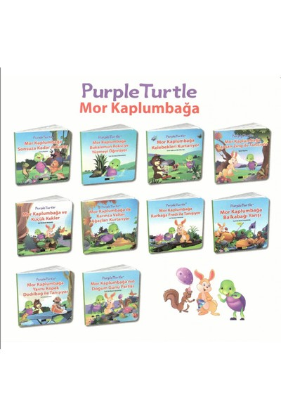 Mor Kaplumbağa Hikaye Serisi 1. Sınıf 10 Kitap - Suvarna Bhajanka