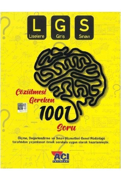Açı Yayınları LGS Çözülmesi Gereken 1001 Soru