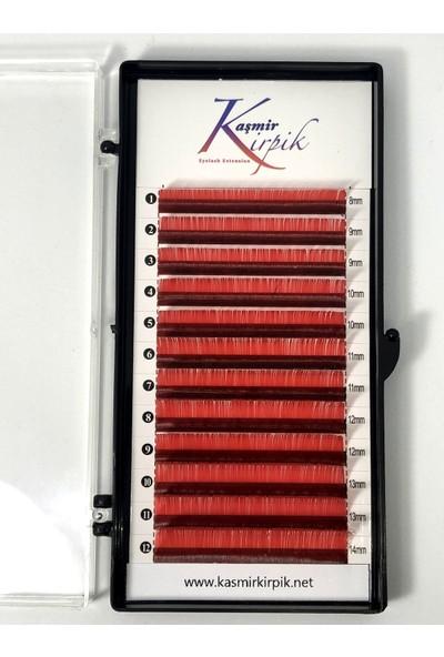 Kaşmir Kirpik Renkli 007 mm C Kıvrım Mix Boy Kırmızı Renk