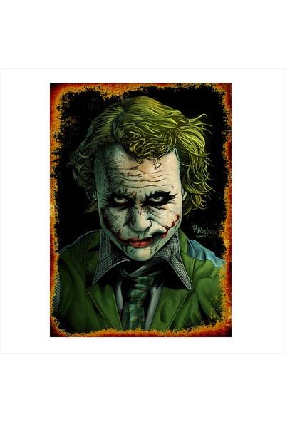 Tablomega Ahşap Tablo Retro Tablo Joker