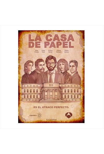Tablomega Ahşap Tablo La Casa De Papel Poster