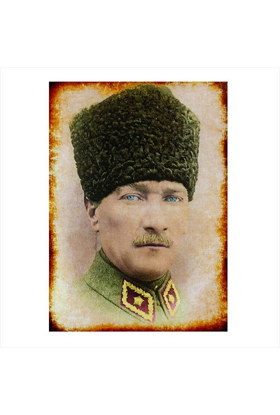 Tablomega Ahşap Tablo Mustafa Kemal Atatürk Portresi