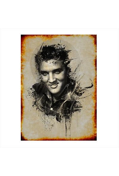 Tablomega Ahşap Tablo Elvis Presley Art