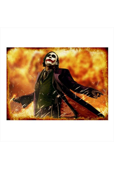 Tablomega Ahşap Tablo Joker Afişi