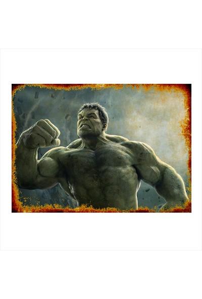 Tablomega Ahşap Tablo Hulk Süper Kahraman