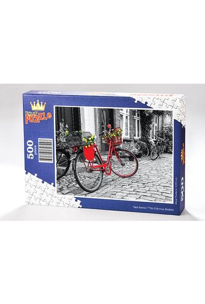 King Of Puzzle Kırmızı Bisiklet Ahşap Puzzle 500 Parça (TT04-D)