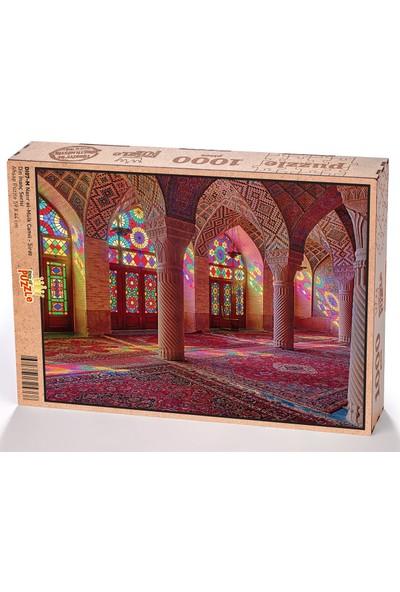 King Of Puzzle Nasır el-Mülk Camii - Şiraz Ahşap Puzzle 1000 Parça (DI07-M)