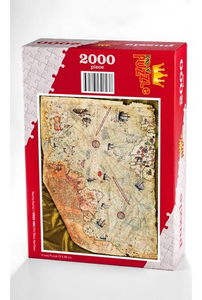 King Of Puzzle Piri Reis Haritası Ahşap Puzzle 2000 Parça (HR50-MM)