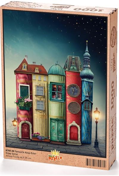 King Of Puzzle Fantastik Kitap Evler Ahşap Puzzle 1000 Parça (KT01-M)