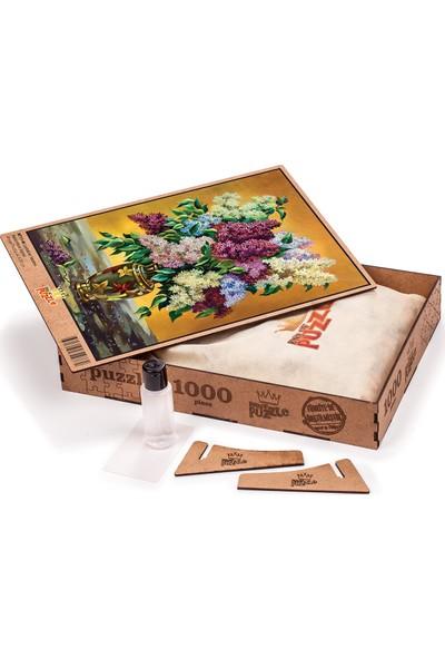King Of Puzzle Leylaklar Vazosu Ahşap Puzzle 1000 Parça (NT11-M)
