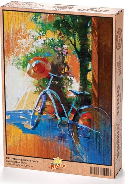 King Of Puzzle Mavi Bisiklet Fransa Ahşap Puzzle 1000 Parça (SK11-M)