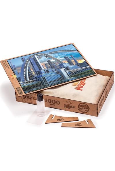 King Of Puzzle Fütüristik Şehir Ahşap Puzzle 1000 Parça (BK03-M)