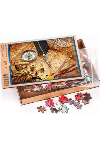 King Of Puzzle Pusula ve Harita Ahşap Puzzle 204 Parça (HR03-CC)