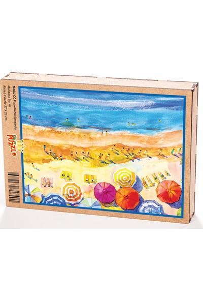 King Of Puzzle Plaj ve Renkli Şemsiyeler Ahşap Puzzle 204 Parça (MZ04-CC)