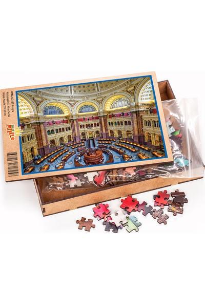 King Of Puzzle ABD Kongre Kütüphanesi Ahşap Puzzle 204 Parça (KT04-CC)