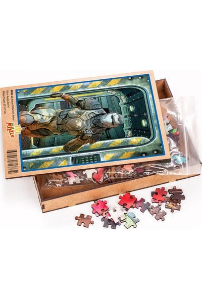 King Of Puzzle Koşan Fütüristik Asker Ahşap Puzzle 204 Parça (BK03-CC)