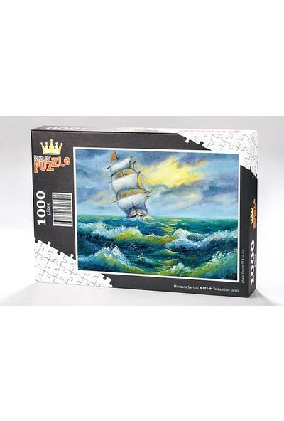 King Of Puzzle Yelkenli ve Deniz Ahşap Puzzle 500 Parça (MZ02-D)